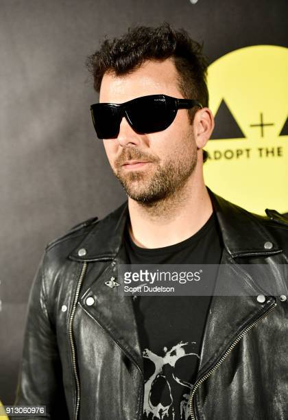 Singer Franky Perez of Kings of Chaos attends the Adopt the Arts annual rock gala at Avalon Hollywood on January 31 2018 in Los Angeles California