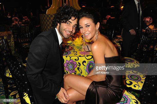 Singer Freddy Wexler and actress Emmanuelle Chriqui attend HBO's Official Emmy After Party at The Plaza at the Pacific Design Center on September 23...