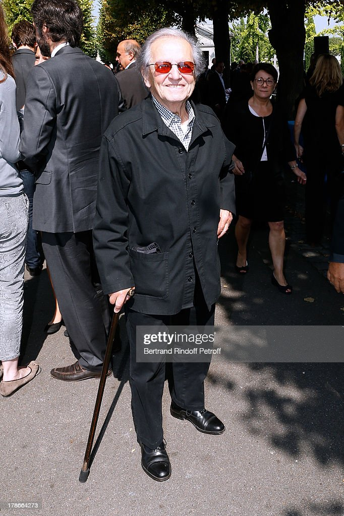 Singer from 'Compagnons de la chanson', Fred Mella attends President of FIFA protocol Doctor Pierre Huth's Funeral in Nogent Sur Marne cemetery on August 30, 2013 in Nogent-sur-Marne, France.