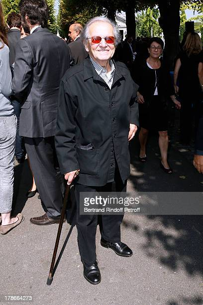 Singer from 'Compagnons de la chanson' Fred Mella attends President of FIFA protocol Doctor Pierre Huth's Funeral in Nogent Sur Marne cemetery on...