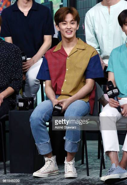 Singer from South Korean boy band NCT 127 Mark visits Build Studio on June 22 2018 in New York City