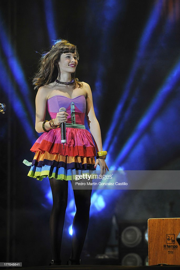 Singer from the Colombian group Monsieur Perinè, during the 6th International Festival Arte Evolutivo on August 18, 2013 in Queretaro, Mexico.