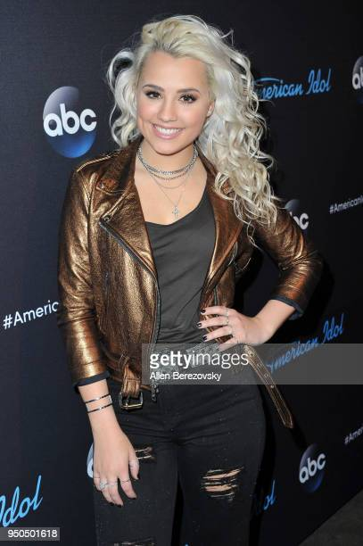 Singer Gabby Barrett arrives at ABC's American Idol show on April 23 2018 in Los Angeles California