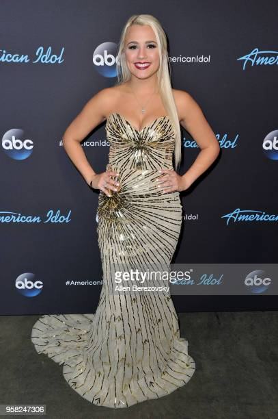 Singer Gabby Barrett arrives at ABC's American Idol show on May 13 2018 in Los Angeles California