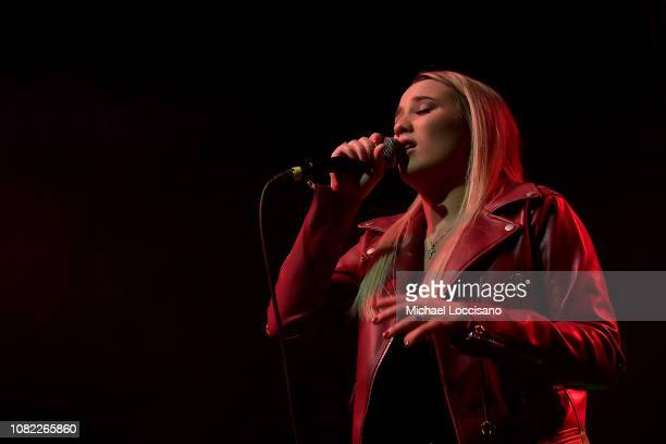 Singer Gabby Barrett performs at Irving Plaza on December 13 2018 in New York City