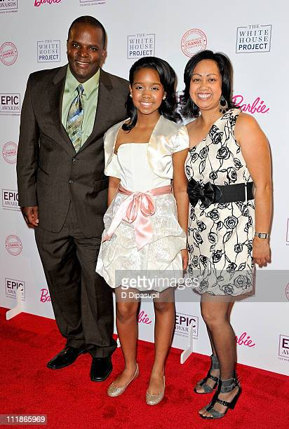 Singer Gabi Wilson and parents Kenneth Wilson and Agnes Wilson attend the White House Project's 9th Annual EPIC Awards at the IAC Building on April...