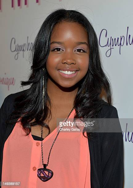 Singer Gabi Wilson attends the Sweet 16th birthday celebration for Cymphonique Miller star of Nickelodeon's 'How to Rock' at Greystone Manor on July...