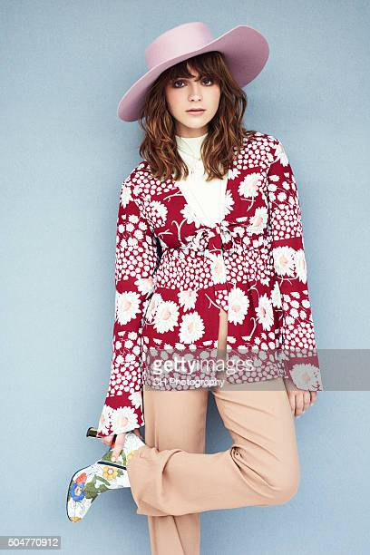 Singer Gabrielle Aplin is photographed for Notion on August 22 2015 in London England