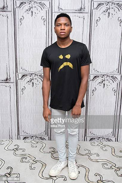 Singer Gallant attends the AOL Build Speaker Series to discuss his new music his upcoming tour and Livestream concert on go90 at AOL HQ on August 29...