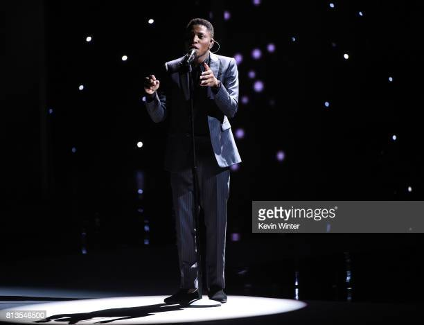Singer Gallant performs onstage at The 2017 ESPYS at Microsoft Theater on July 12 2017 in Los Angeles California