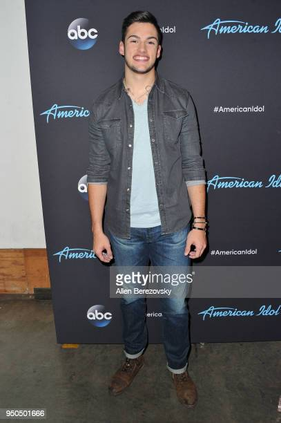 Singer Garrett Jacobs arrives at ABC's 'American Idol' show on April 23 2018 in Los Angeles California