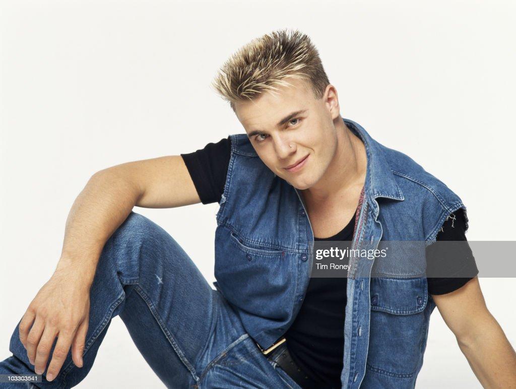Singer Gary Barlow of English boy band Take That, circa 1992.
