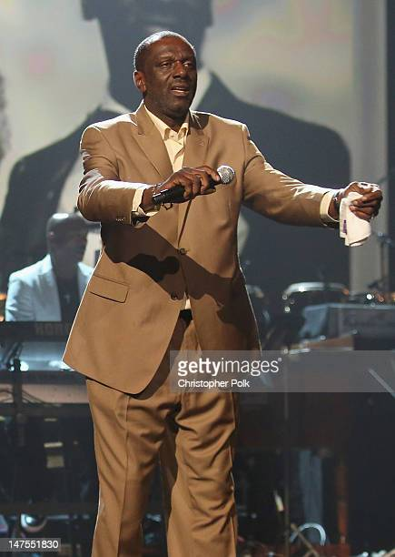 Singer Gary Houston performs onstage during the 2012 BET Awards at The Shrine Auditorium on July 1 2012 in Los Angeles California