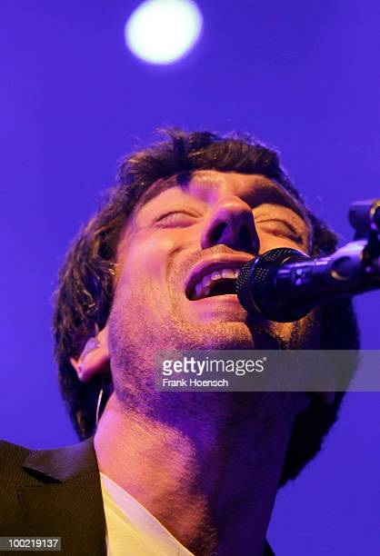 Singer Gary Lightbody of the British band Snow Patrol performs live during a concert at the Tempodrom on May 21, 2010 in Berlin, Germany.