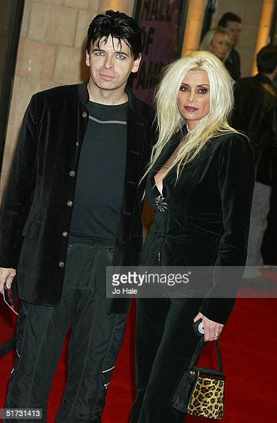 Singer Gary Newman and his wife Gemma arrive at the final of UK Music Hall Of Fame the Channel 4 series looking at popular music from the 1950's to...