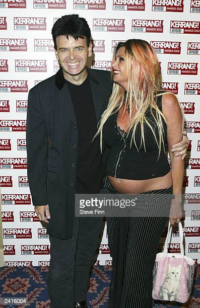Singer Gary Numan and his wife Gemma arrive at the Kerrang Awards at The Royal Lancaster Hotel on August 21 2003 in London