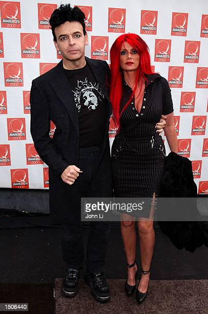 Singer Gary Numan and his wife Gemma arrive for The Q Awards 2002 held at the Old Saatchi Gallery October 21 2002 in London The annual event held by...