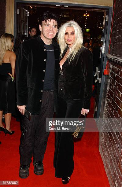 Singer Gary Numan and wife Gemma O'Neill arrive at the final of UK Music Hall Of Fame the Channel 4 series looking at popular music from the 1950's...