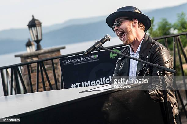 Singer Gavin DeGraw performs during the T.J. Martell Foundation's Annual Golf Classic at Hudson National Golf Club on July 18, 2016 in...