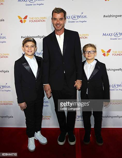 Singer Gavin Rossdale and sons Kingston Rossdale and Zuma Nesta Rock Rossdale attend the 4th Annual Wishing Well Winter Gala at the Hollywood...