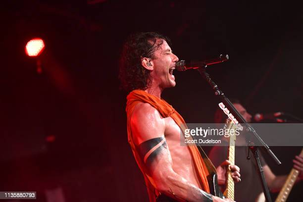 Singer Gavin Rossdale of the band Bush performs onstage during a private concert to launch their upcoming tour with LIVE at The Roxy Theatre on March...