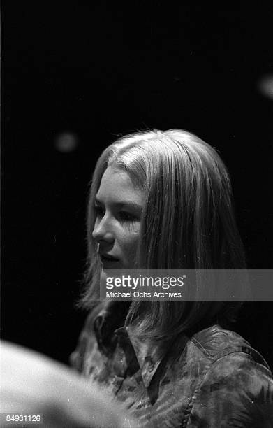 Singer Gayle McCormick of the one hit wonder American rock band Smith records in the studio in 1969
