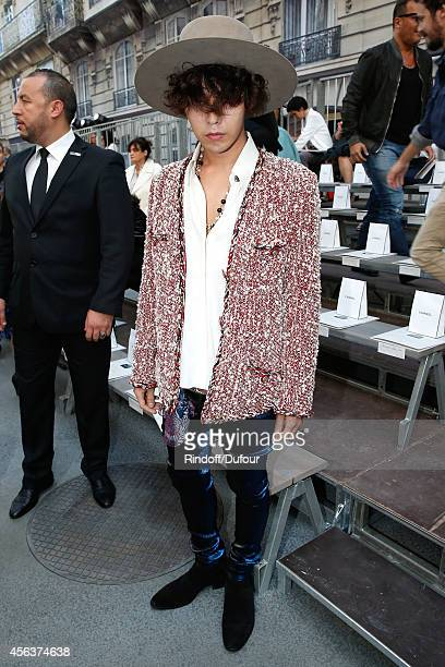 Singer GDragon attends the Chanel show as part of the Paris Fashion Week Womenswear Spring/Summer 2015 on September 30 2014 in Paris France