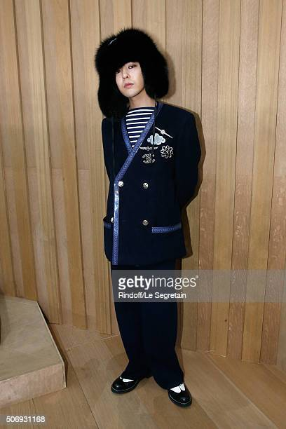 Singer GDragon attends the Chanel Spring Summer 2016 show as part of Paris Fashion Week on January 26 2016 in Paris France