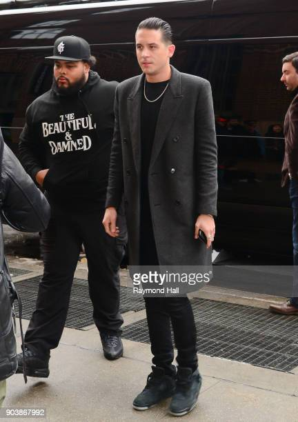 Singer GEazy is seen outside Z100 on January 11 2018 in New York City