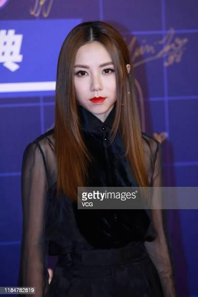 Singer GEM arrives at red carpet of Fresh Asia Music Awards 2019 on October 31 2019 in Beijing China
