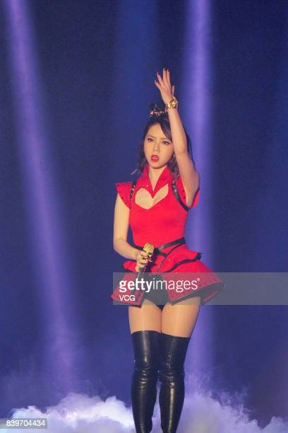 Singer GEM performs onstage during her concert 'Queen of Hearts' on August 26 2017 in Hefei Anhui Province of China