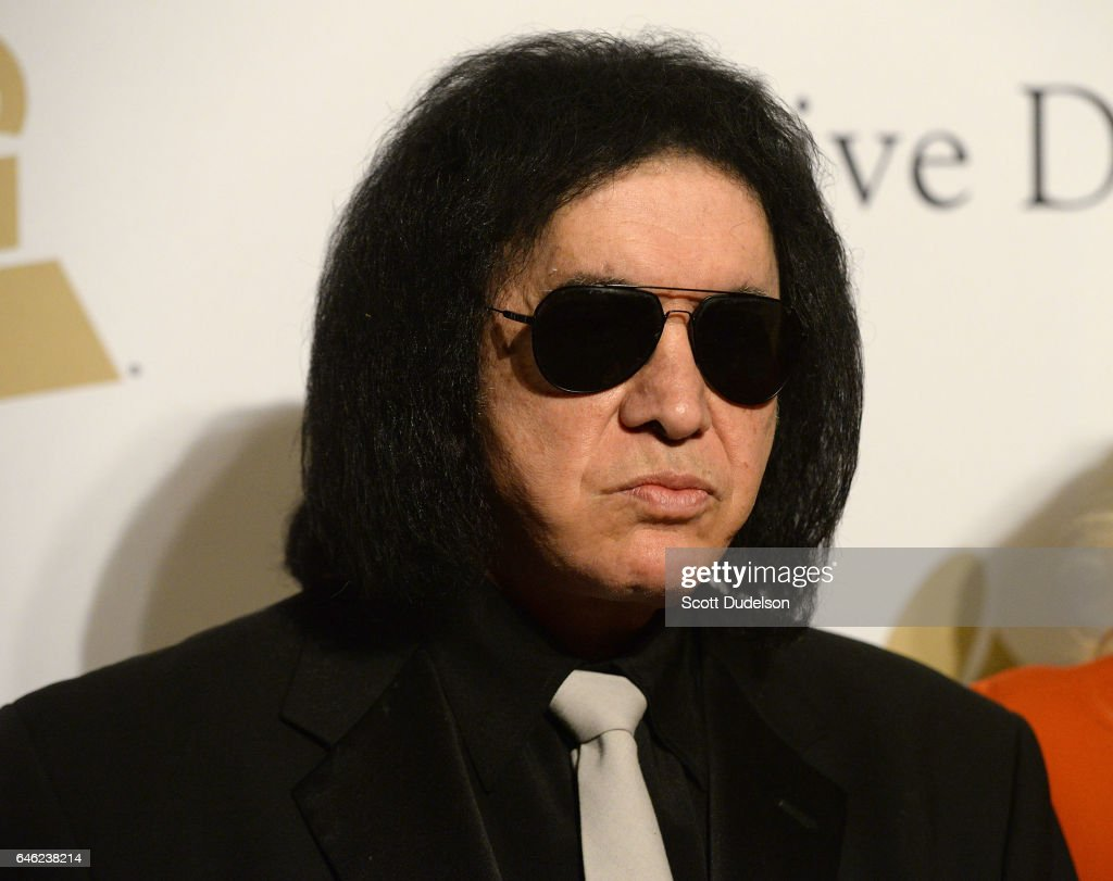 Singer Gene Simmons of KISS attends the 2017 Pre-Grammy Gala and Salute to Industry Icons Event at The Beverly Hilton Hotel on February 11, 2017 in Beverly Hills, California.