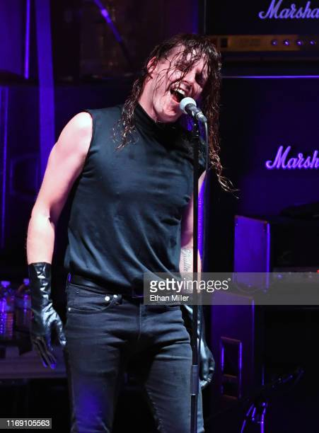 Singer George Clarke of Deafheaven performs during Psycho Las Vegas at the Mandalay Bay Beach at Mandalay Bay Resort and Casino on August 18 2019 in...