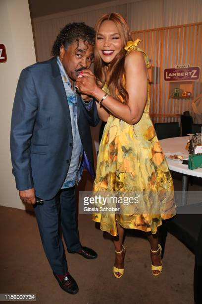 Singer George McCrae and Valerie Campbell during the CHIO 2019 Media Night on July 16, 2019 in Aachen, Germany.
