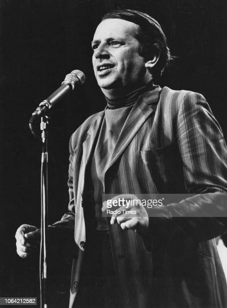 Singer George Melly performing in stage July 17th 1971