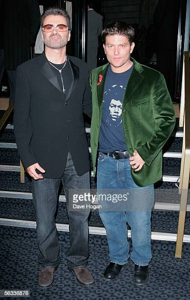 Singer George Michael and Kenny Goss arrive at the VIP preview screening of A Different Story a documentary based on singer George Michael's life at...