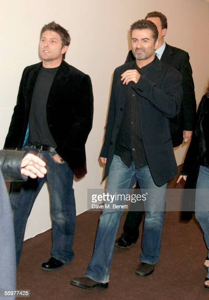 Singer George Michael and partner Kenny Goss attend the Private View launch party for the annual Frieze Art Fair the UK's largest contemporary art...