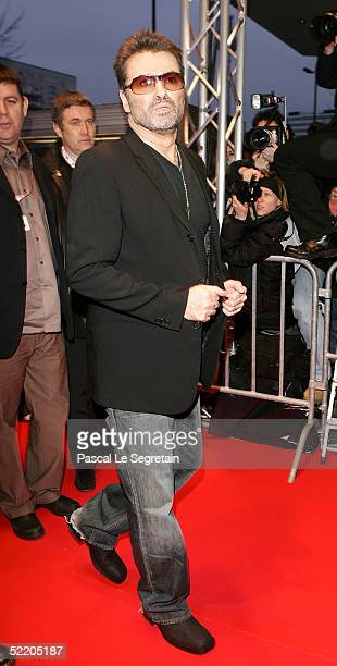 Singer George Michael arrives at the George Michael A Different Story World Premiere at Kino International during the 55th annual Berlinale...
