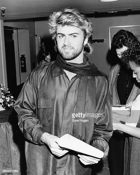 Singer George Michael at the Ivor Novello Awards Grosvenor House Hotel London March 14th 1985