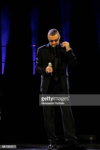 Singer George Michael in concert at the Verona Arena Verona Italy 14th September 2011