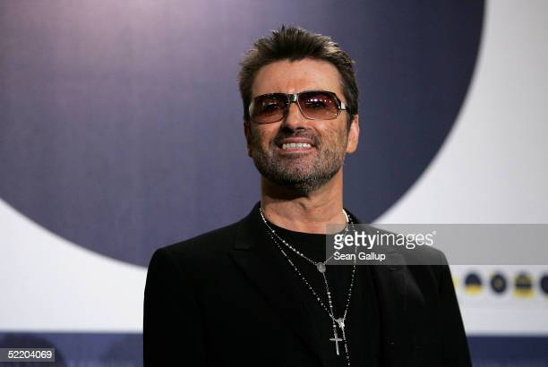 Singer George Michael poses at the George Michael A Different Story Photocall during the 55th annual Berlinale International Film Festival on...