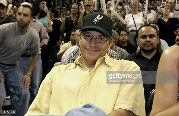 Singer George Strait attends Game one of the 2003 NBA Finals between the San Antonio Spurs and teh New Jersey Nets at the SBC Center on June 4, 2003...