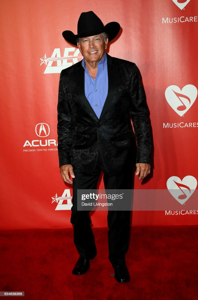 Singer George Strait attends the 2017 MusiCares Person of the Year honoring Tom Petty on February 10, 2017 in Los Angeles, California.