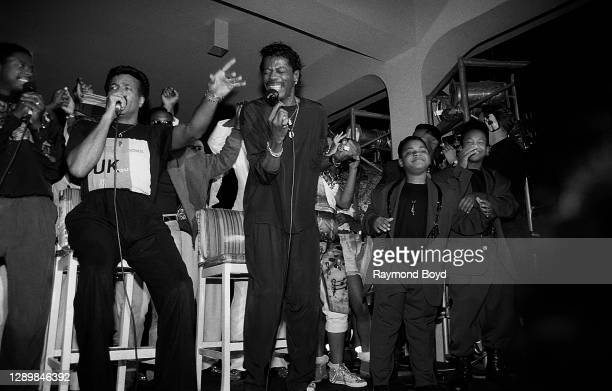 Singer Gerald Alston, formerly of The Manhattans, Richard Street and Ali-Ollie Woodson of The Temptations, Bilal and Hakeem of The Boys and other...