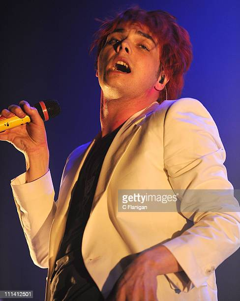 Singer Gerard Way of My Chemical Romance perfoms during the 2011 World Contamination Tour at The Fox Theatre on March 31 2011 in Oakland California