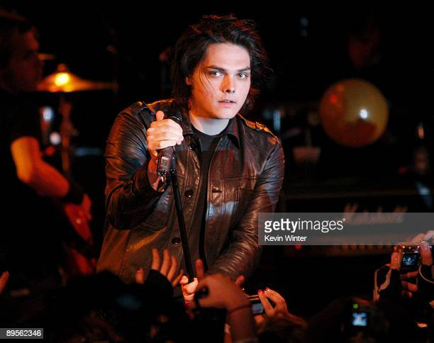 Singer Gerard Way of the band My Chemical Romance performs at the Roxy Theatre on August 1 2009 in West Hollywood California