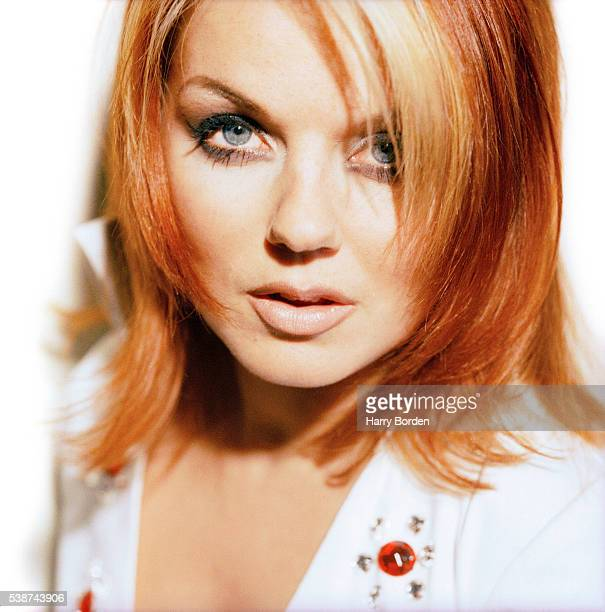 Singer Geri Halliwell aka Ginger Spice of pop band the Spice Girls is photographed for the Observer on December 8 1997 in Las Vegas Nevada