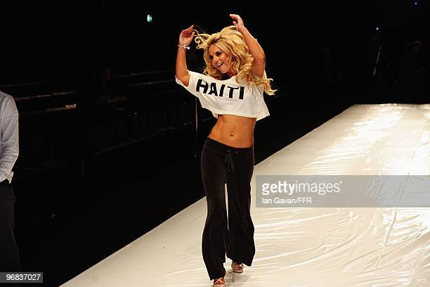 Singer Geri Halliwell during rehearsals at Naomi Campbell's Fashion For Relief Haiti London 2010 Fashion Show at Somerset House on February 18 2010...