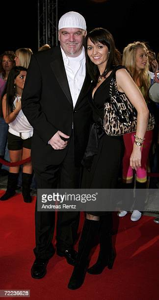 Singer Gerry Friedle and Sonja Friedle arrive at the 50th Anniversary of Bravo Magazine at the Color Line Arena October 21, 2006 in Hamburg, Germany.