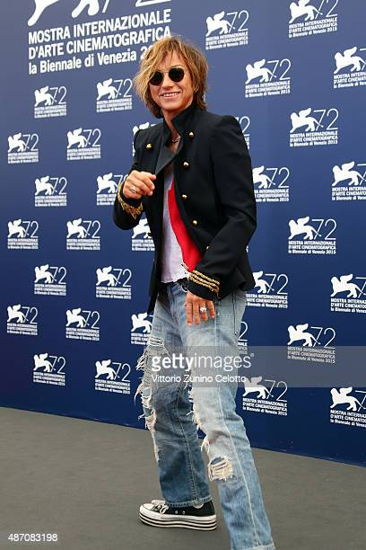 Singer Gianna Nannini attends a photocall for 'Janis' during the 72nd Venice Film Festival at Sala Grande on September 6 2015 in Venice Italy